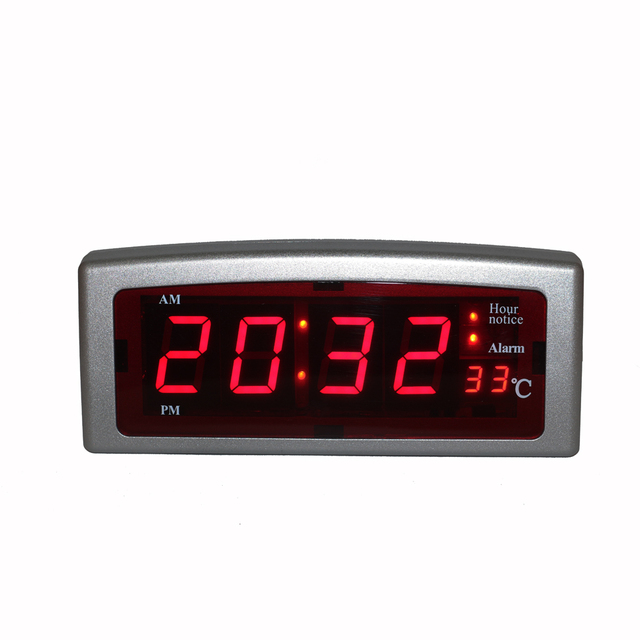 Electronic Led Alarm Clock Digital Watch Tabletop Desk Clock With  Temperature Display Multiple Alarms And Hourly