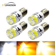купить 4 pcs E10 2W 3V 6V 12V Indicator bulbs LED Car Interio Light super bright COB leds Automobile instrument lamp Width Signal Lamp дешево