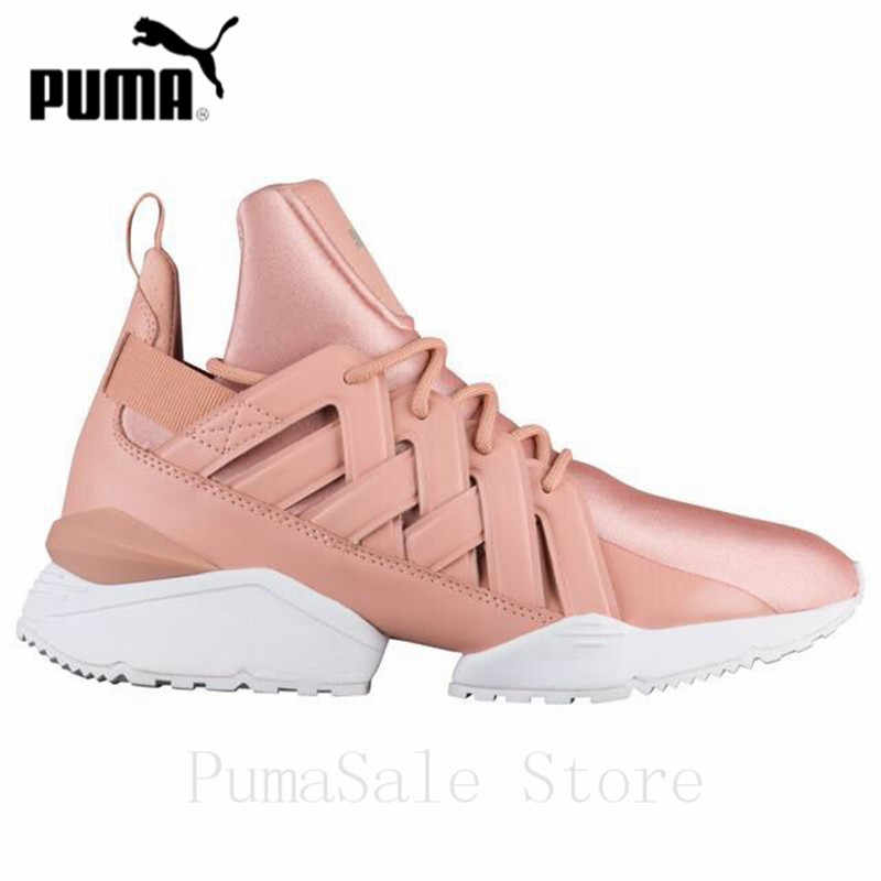 ... PUMA Women s Muse Echo Satin EP Sneakers Badminton Shoes 365521-01 Pink  Color Sneakers High ... b3a44d5fe