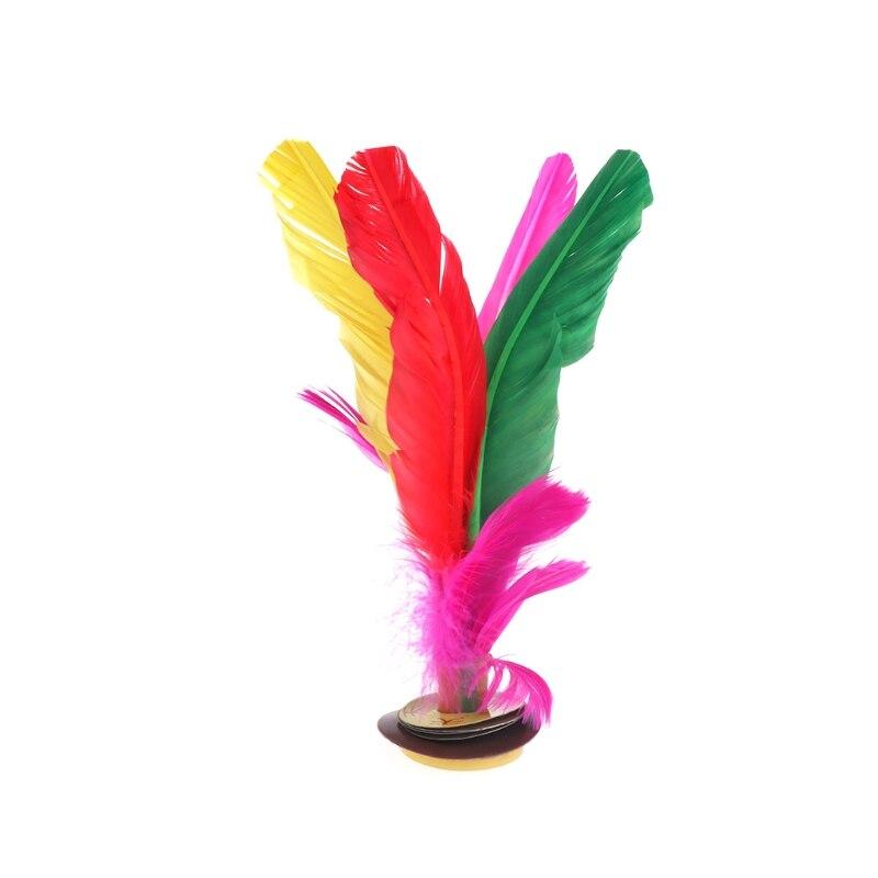 Китай Jianzi Footbal ноги кик маховик Необычные Волан из гусиных перьев фитнес - Цвет: 19cm