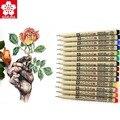 Набор цветных микронов Sakura XSDK Pigma  художественные маркеры 0 2/0 3/0 5 мм  тонкие наконечники кистей  игла  эскиз  рисунок  анимация