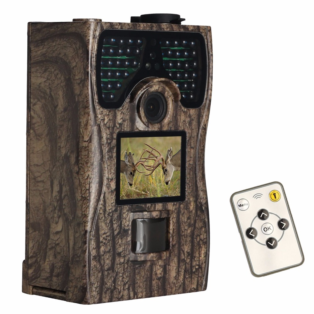 Tensdarcam Hunting Camera 12MP 1080P HD Photo Traps 48pcs IR LEDs Night Vision Infrared Wildlife Trail Cameras