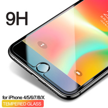 EQZ Nano high quality Tempered glass for iphone 6 6s 7 7 plus 5s 4s 8 8plus iphone 7 screen protector Toughened glass for iphone стоимость