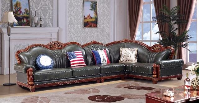 Europaischen Leder Sitzgruppe Wohnzimmer Sofa China Holzrahmen L