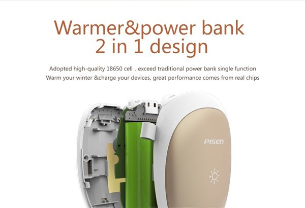 New PISEN 7500mah Hand Warmer Power Bank (7)