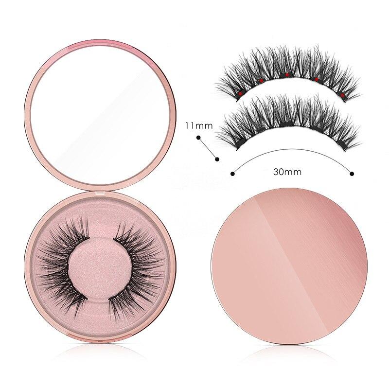 Genailish 5 Magnets Eyeashes For Magnetic Eyeliner Magnetic Eyeashes False Eyelash For Dropshipping