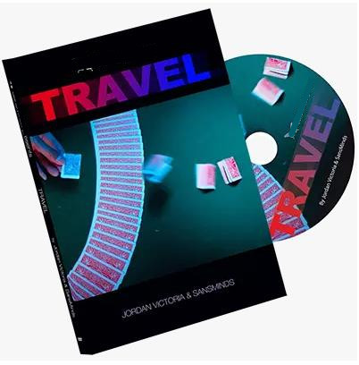 Travel (Dvd And Gimmick) By Jordan Victoria And Sansminds / Close-Up Street Card Magic Trick illusion Magia