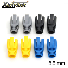 xintylink rj45 cap cat6a cat7 network connectors sheath protective sleeve protecting bush a pack of 10pcs 50pcs 100pcs