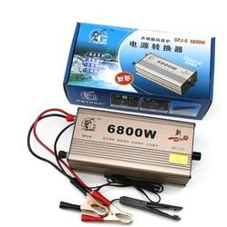 شحن مجاني 6800 واط الإلكترونية بالموجات فوق الصوتية العاكس كيت 12 فولت عالية الطاقة بطارية العاكس معززة