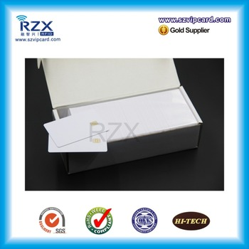 Free shipping 20PCS PVC inkjet blank card/ contact smart blank card with AT24C02 chip, for Canon