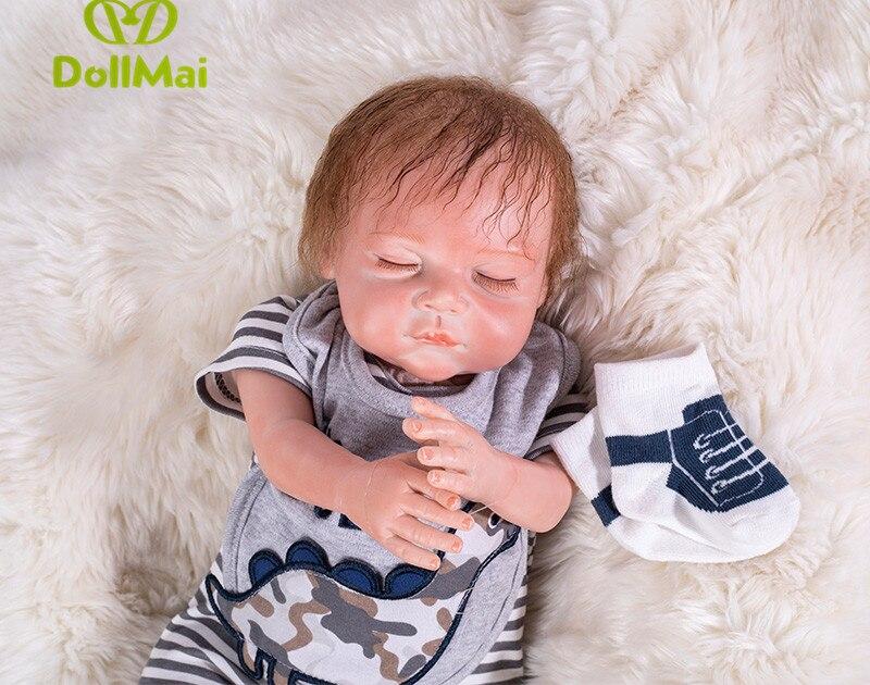 Poupées en Silicone DollMai real baby reborn, poupée réaliste reborn bébés pour jouets pour enfants 50 cm Bebes reborn garçon poupée vivante