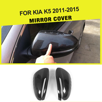 Carbon Fiber Car Review Mirror Covers Side Mirror Sticker Caps For Kia K5 Optima 2011 2015 Add On Style