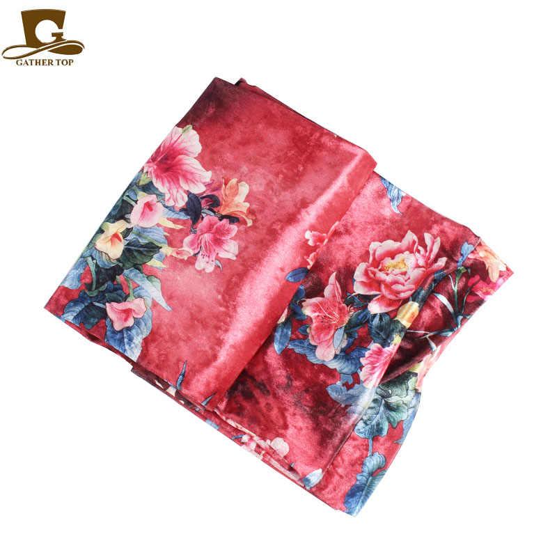 5 шт/лот дешевые 2018 новые женские роскошные цветочные вельветовый тюрбан в нигерийском стиле Тюрбан Хиджаб Экстра длинные трубки головной убор мусульманский шарф тюрбант