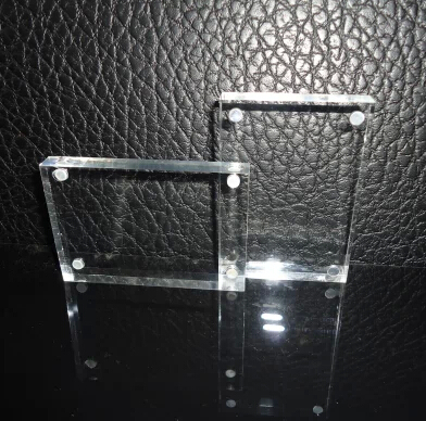7 clear rectangle acrylic photo frame / price tag/ table card / station sign 12.7cm x 17.8cm