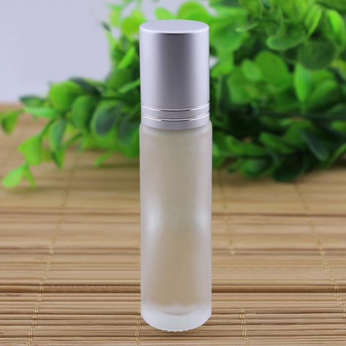 10 ml botella de vidrio esmerilado con (bola de acero) rodar en crema para los o