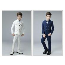 2018 New Blue boys suits for weddings kids Blazer S
