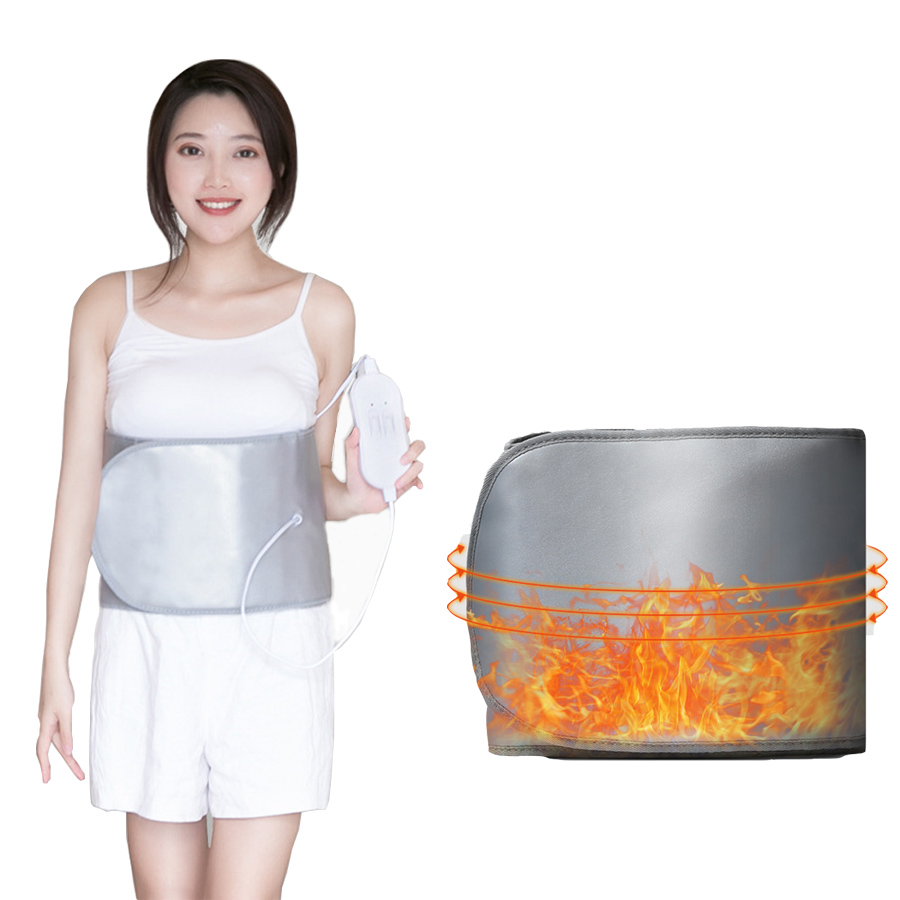 Far infrared slimming belt 360 degree heating vibration massage belt Weight Loss fat shaping burning abdomen