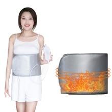 Дальний инфракрасный пояс для похудения 360 градусов вибрирующий массажный пояс вес для жиросжигания формирование сжигания живота уменьшение живота 220 В