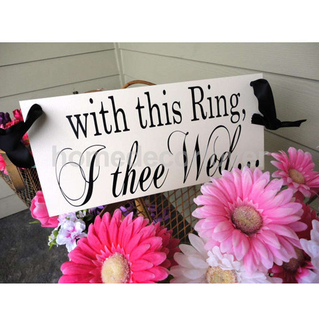 aliexpresscom buy romantic 2 sides wood with this ring i thee wed see you at the reception wedding signs hanging banner from reliable wood wood - With This Ring I Thee Wed