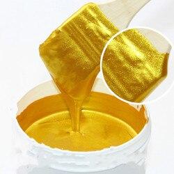 50g de tinta de ouro brilhante, pintura de madeira, laca de metal, tinta à base de água insípido, pode ser aplicada em qualquer superfície