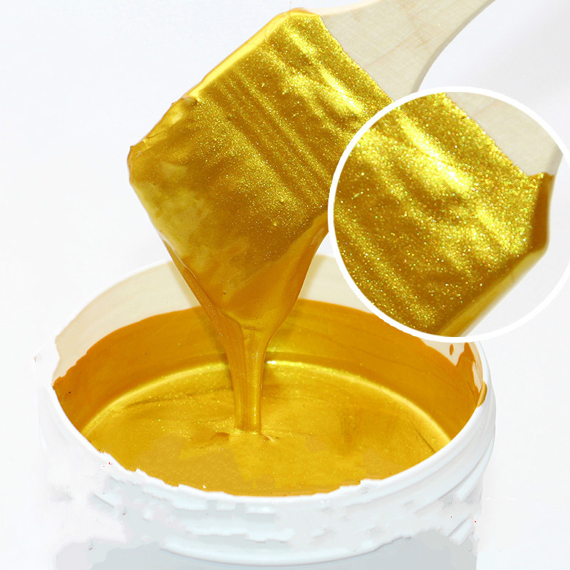 One Bottle Bright Gold Paint, 100 G,, Wood Paint, Metal Lacquer ,tasteless Water-based Paint, Can Be Applied On Any Surface