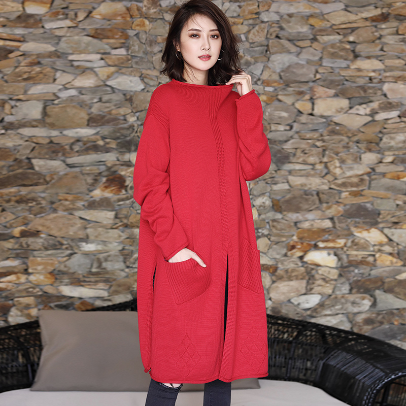 New 2019 female new spring plus size dress casual high quality fashion M long all match