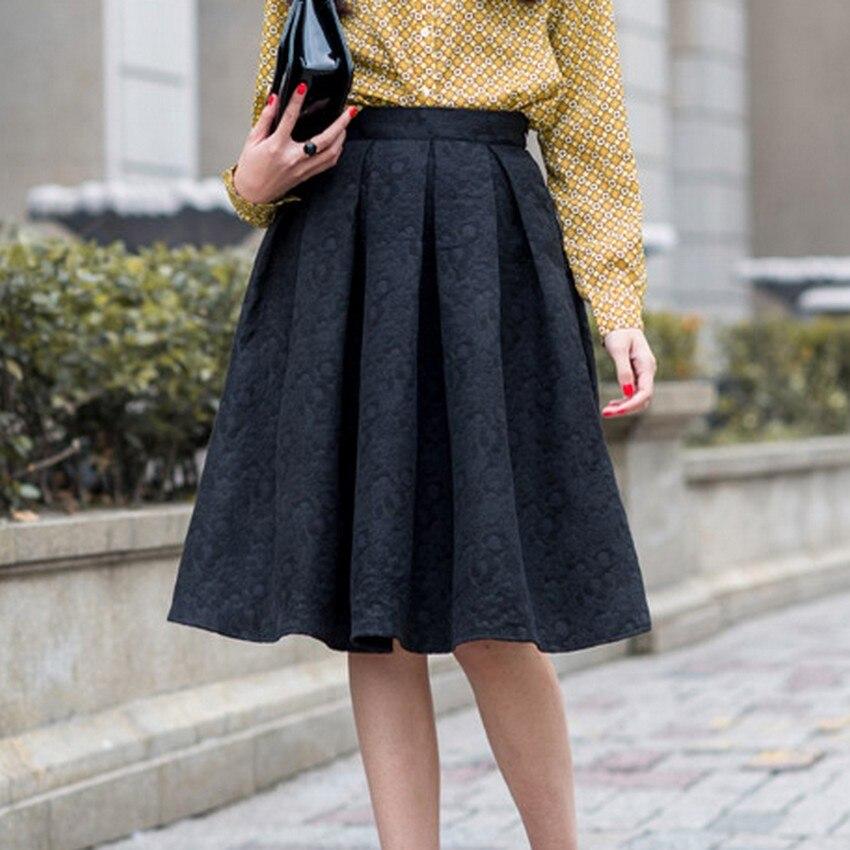 EXOTAO Φθινόπωρο Ρετρό Υψηλή Μέση Φούστα - Γυναικείος ρουχισμός - Φωτογραφία 5