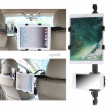 Universal Car Back Seat Headrest Dual Mount 2-In-1 Tablet + Phone Holder Stand Z09 Drop ship