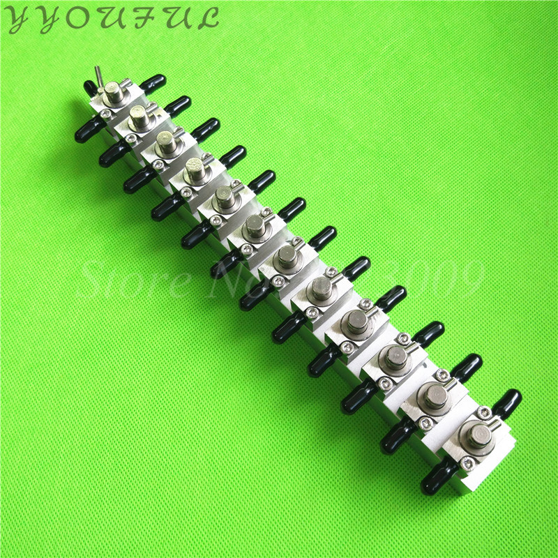 Wide format printers spare parts Aluminum clean valve device 3 ways 12 units for Gongzheng Flora
