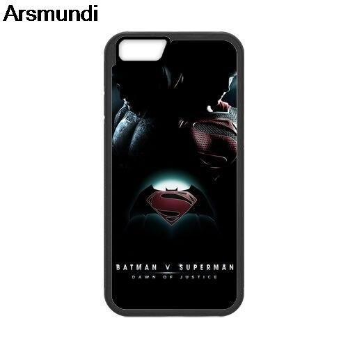 Arsmundi Batman VS Superman Phone Cases for iPhone 4S 5C 5S 6S 7 8 6Plus 7Plus 8Plus X for Samsung Case Soft TPU Rubber Silicone