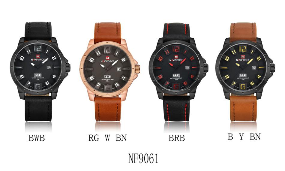 Naviforce NF9061 Military Quartz Watch Men