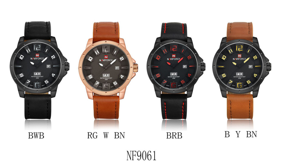 Naviforce NF9061 Military Quartz Watch Men