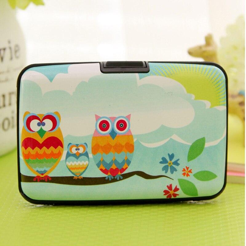 New Arrival Owl Plastic Box Design Card Holder Credit / Bank Card Case Wallet 7 Pockets