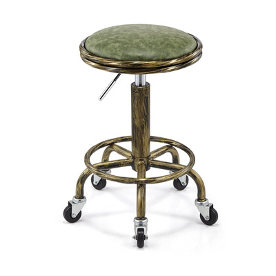 Retro Style Lifting Swivel Salon Chair Multifunction Hairdresser Chair Barber Stools Beauty Stool Bar Stool Cadeira De Barbeiro
