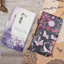 Leather case for Asus Zenfone 2 ZE500CL 5.0 inch / ZE ZE500 500 500CL CL flip cover case housing with mobile phone covers cases