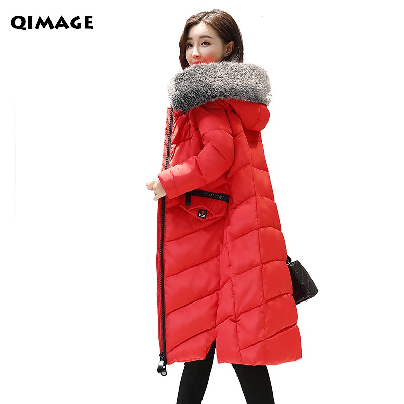 2017 Winter Jackets Coats Slim Women Long Parkas Large Fur CollarThickened Warm Cotton Jacket Female Plus size 3XL Outerwear Red new women winter cotton jackets long coats hooded fur collar parkas thick warm jacket plus size female slim outerwear okxgnz1072