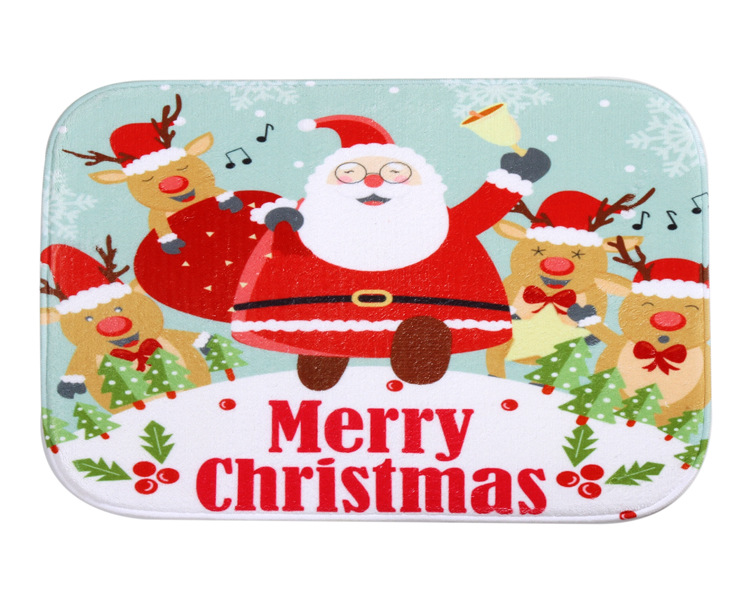 Halloween Non-Slip Bath Mats Absorbent Waterproof Home Decor doormats Santa Claus Carpets Rugs Christmas Decorations Gifts