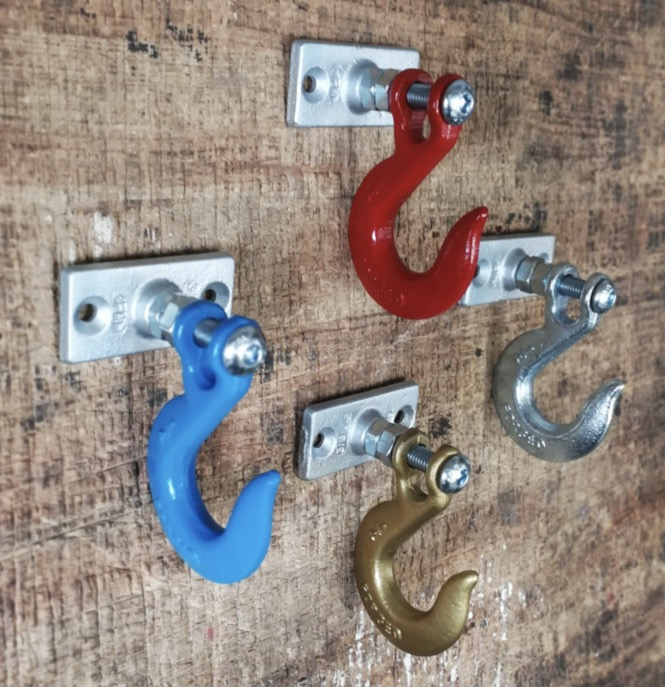 Image 5 - 1pcs/lot 110x70mm. Industrial alloy hook retro style clothing hook-in Hooks & Rails from Home & Garden