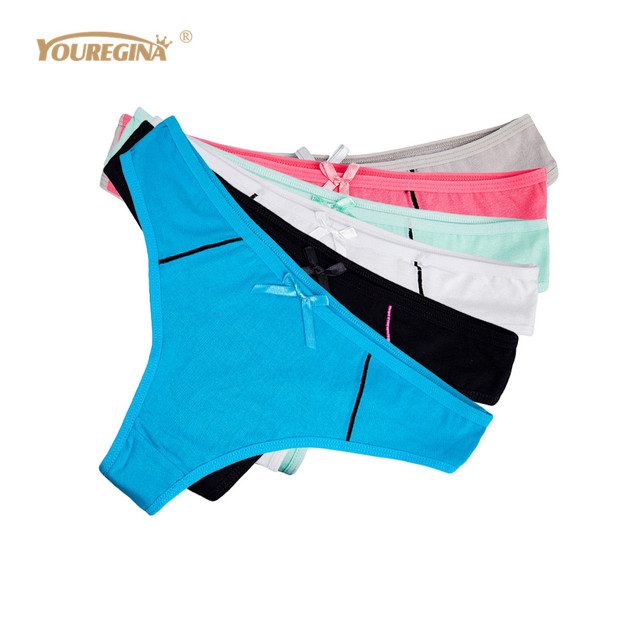 ad608d7fd YOUREGINA Women s Sexy G-strings Thongs Woman Underwear Cotton Sexy Panties  Ladies Knickers Lingerie Tangas for Women 6pcs lot