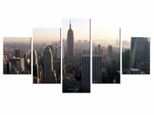 5 pieces / set of Beautiful city landscape wall art for decorating home Decorative painting on canvas Wholesale/XC-City-54