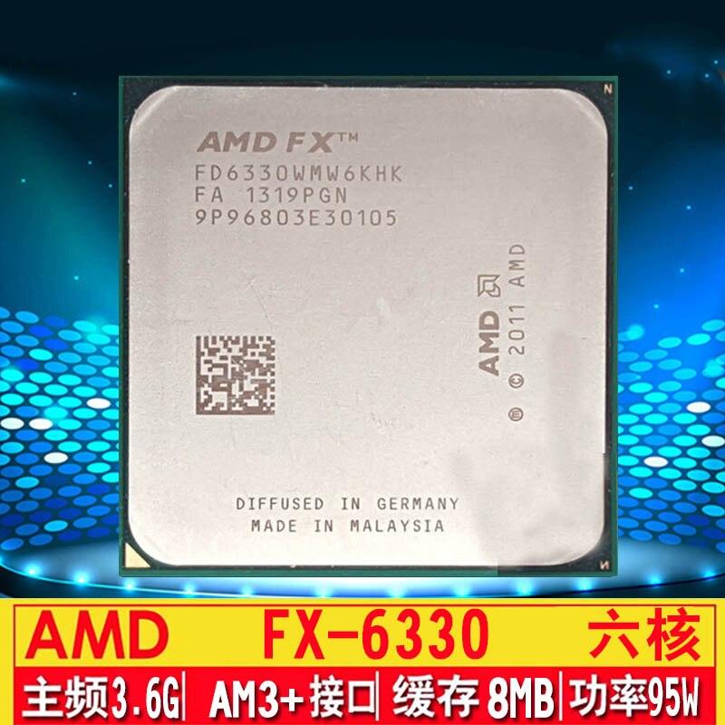 AMD FX 6330 FX-6330 3.6GHz Six-Core CPU Processor FD6330WMW6KHK Socket AM3 amd fx 6330 3 6ghz six core cpu processor fd6330wmw6khk socket am3