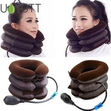 NEW Inflatable Air Cervical Neck Traction Neck Massage Soft Brace Devi
