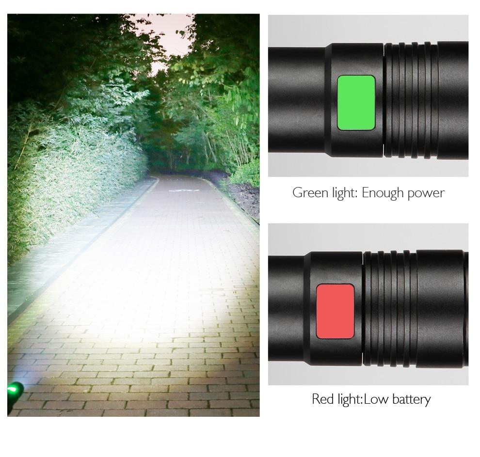 Lampe torche USB rechargeable puissante Baton télescopique USB lampe - Éclairage portable - Photo 4