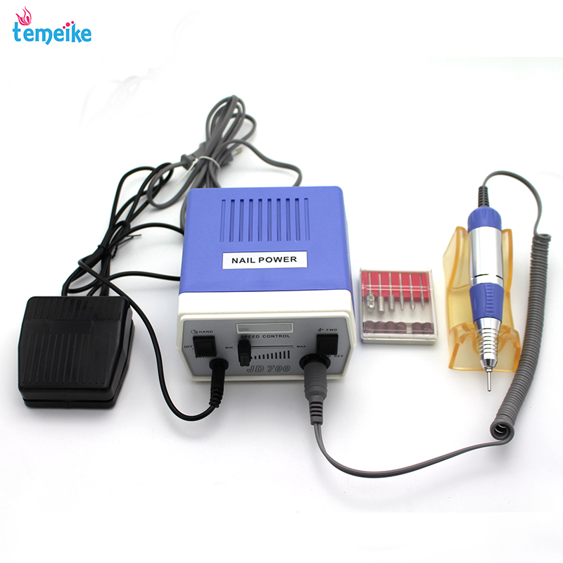 30000RPM JD700 Pro Electric Nail Drill Machine Nail Art Equipment Manicure Pedicure Files Electric Manicure Drill & Accessory