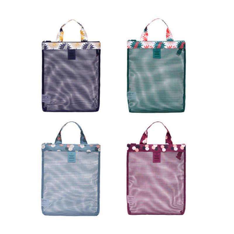 ... Шт. 1 шт. пляжные сетчатые сумки купальник собирать обувь инструменты  для хранения стирка сумка ... 59964a64f77