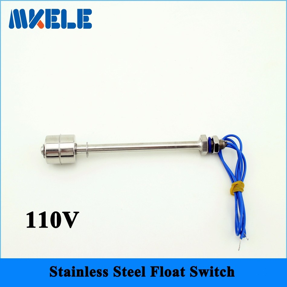 110v MK-SFS15010 Mini Stainless Steel Tank Pool Liquid Water Level Sensor Horizontal Float Switch