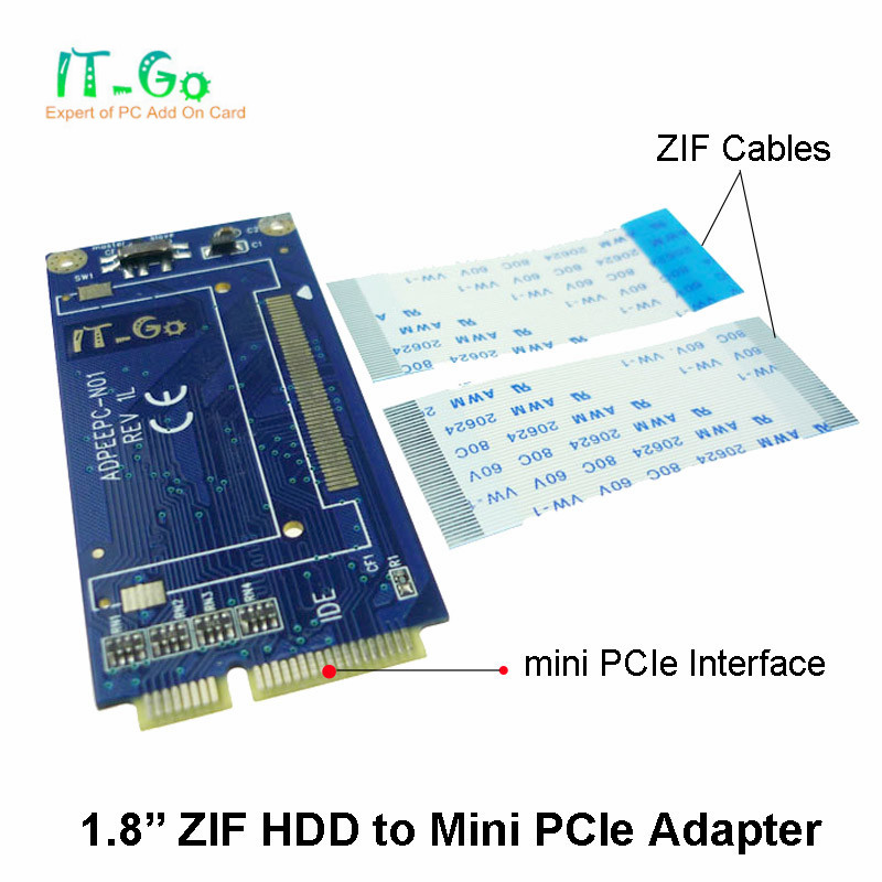 ZIF LIF 18 To Mini PCIebased On IDE Mode Adapter Min PCI