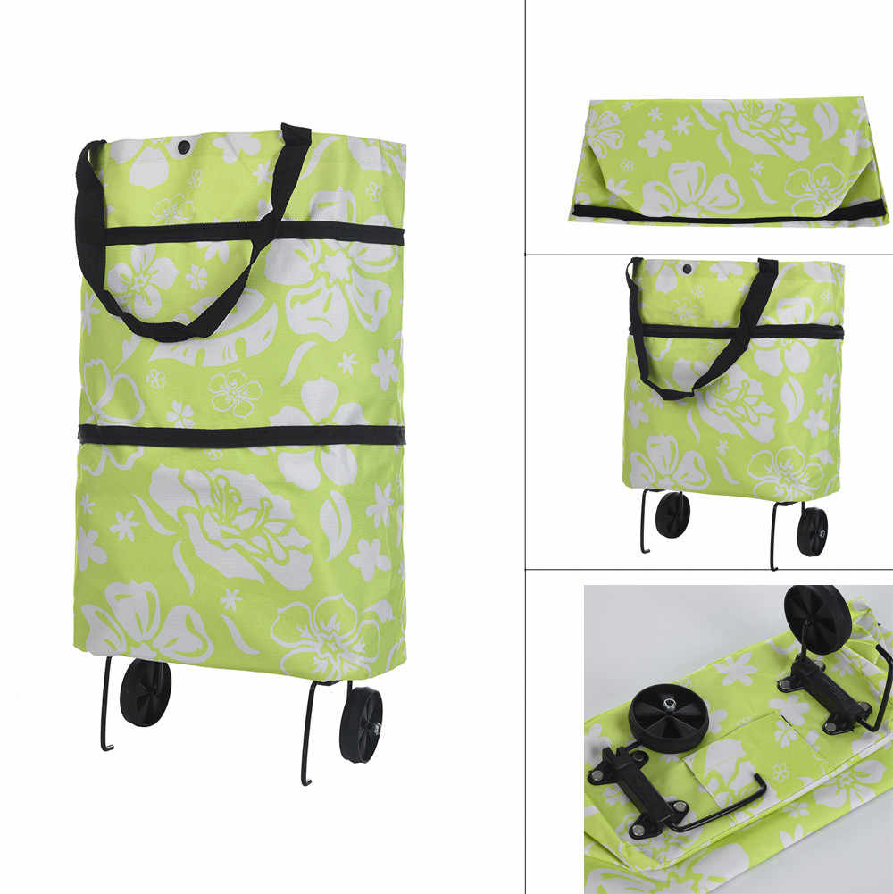 ISHOWTIENDA 2018 Light Weight Folding Foldable Shopping Cart Luggage Travel Bag Trolley On Wheels high quality