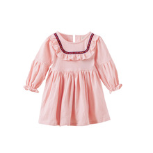 2017 Full Promotion Popular Baby Cotton Long Sleeved Girls Dress 1-2-3 Years Old Girl Dress, Children's Clothing Summer Kids