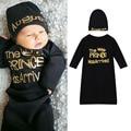 Newborn Baby Boy Prince Print Cotton Sleeping Bag Swaddle Wrap Blanket Sleepsacks